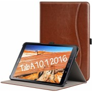 Samsung Galaxy tab A (A6) 10.1 lysebrun retro cover med lommer Tabletcovers