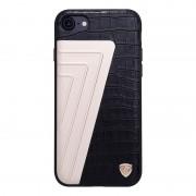 Iphone 7 sort cover elegant hybrid aloy læder Mobiltelefon tilbehør