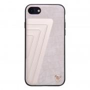 Til Iphone 7 beige cover elegant hybrid aloy læder Mobiltelefon tilbehør