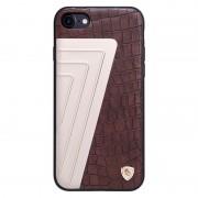 Iphone 7 cover elegant hybrid aloy læder brun Leveso.dk Mobiltelefon tilbehør