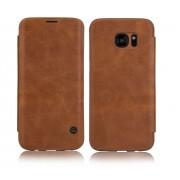 Samsung galaxy s7 edge cover vintage business brun Mobiltelefon tilbehør