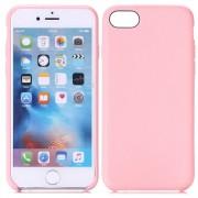 Iphone 7 cover tpu læder look pink Mobiltelefon tilbehør