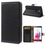 LG G3 læder cover med lommer sort, Mobiltelefon tilbehør