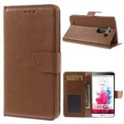 LG G3 læder cover med lommer brun, Mobiltelefon tilbehør