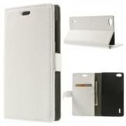 Til Huawei Honor 6 hvid etui med lommer Mobiltelefon tilbehør