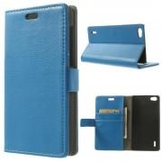Huawei Honor 6 blå cover etui med lommer Mobiltelefon tilbehør Leveso.dk