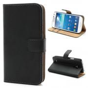 Samsung Galaxy S4 Mini cover i split læder sort Mobiltelefon tilbehør
