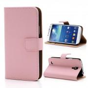 Samsung Galaxy S4 Mini cover i split læder pink Mobiltelefon tilbehør