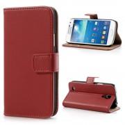 Samsung Galaxy S4 Mini cover i split læder rød Mobiltelefon tilbehør