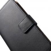 LG NEXUS 5 læder pung cover, sort Mobiltelefon tilbehør