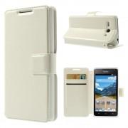 til Huawei Ascend Y530 hvid cover etui med kort lommer Mobiltelefon tilbehør