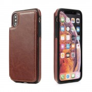 Iphone Xr brun wallet case Mobil tilbehør