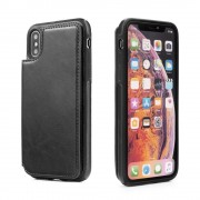 Iphone Xr sort wallet case Mobil tilbehør