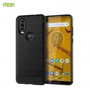 C-style Armor case Motorola One Vision sort Mobil tilbehør