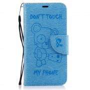 Huawei P10 lite mønstret blå cover med lommer Mobiltilbehør