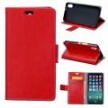 Klassisk flip cover Iphone X rød
