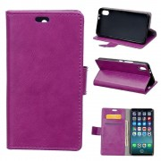 Klassisk flip cover lilla Iphone X Mobilcovers