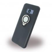 Galaxy S8 plus cover med finger ring sort Mobil tilbehør