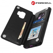 sort Forcell wallet case Galaxy S9 Mobil tilbehør