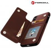 brun Forcell wallet case Iphone Xs Mobil tilbehør