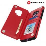rød Forcell wallet case Galaxy S9 Mobil tilbehør