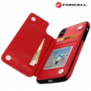 rød Forcell wallet case Iphone Xs Mobil tilbehør