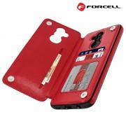 rød Forcell wallet case Huawei Mate 20 Lite Mobil tilbehør