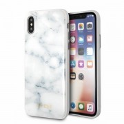 Guess marble case cover til Iphone X hvid  Mobilcovers