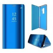 blå Clear view mirror cover Samsung A20e Mobil tilbehør