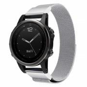 sølv Milanese armbånd Garmin Fenix 5S Smartwatch tilbehør