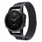 sort Milanese armbånd Garmin Fenix 5S Smartwatch tilbehør