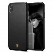 Spigen LaManon Calin case Iphone XS / X sort Mobil tilbehør