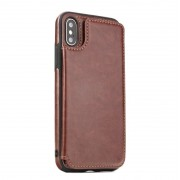 Iphone XS Max Forcell wallet case brun Mobil tilbehør