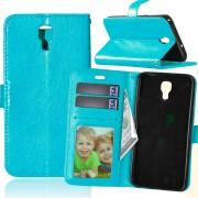 LG X Screen pung etui blå med lommer Mobil tilbehør