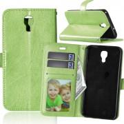 Til LG X Screen grøn pung etui med lommer Mobiltelefon tilbehør