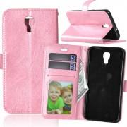 Pink cover LG X Screen pung etui med lommer Mobil tilbehør