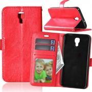 Til LG X Screen rød pung etui med lommer Mobiltelefon tilbehør