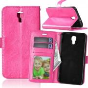 LG X Screen rosa pung etui med lommer Leveso.dk Mobil tilbehør