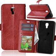 LG X Screen vinrød pung cover med lommer Mobiltelefon tilbehør