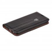 IPHONE 5S retro læder cover med kort lomme, sort Mobilcovers