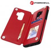 Samsung S9+ rød Forcell wallet case Mobil tilbehør
