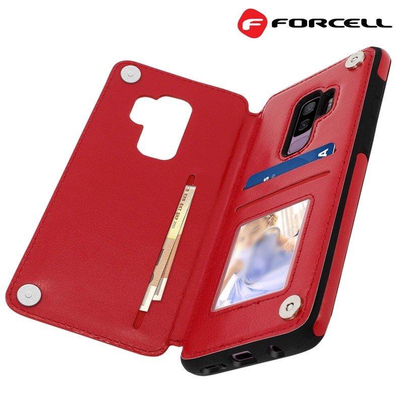 5a25f6210b2 Samsung S9+ rød Forcell wallet case Mobil tilbehør ...