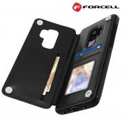 Samsung S9+ sort Forcell wallet case Mobil tilbehør
