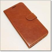 SAMSUNG GALAXY S7 EDGE læder cover med lommer, brun Mobiltelefon tilbehør