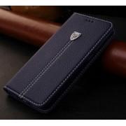 SONY XPERIA Z5 læder cover med kort lomme, mørkeblå Mobiltelefon tilbehør