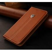 SONY XPERIA Z5 læder cover med kort lomme, brun Mobiltelefon tilbehør