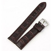 22 mm læder urrem krokodille mønstret mørkebrun Smartwatch tilbehør