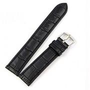 22 mm læder urrem krokodille mønstret sort Smartwatch tilbehør