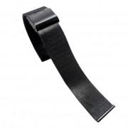 24 mm Mesh urrem sort Smartwatch tilbehør