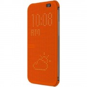 HTC ONE M8 dot view cover, orange Mobiltelefon tilbehør